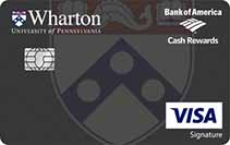 Wharton Branded Bank of America Credit Card Image