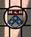 Photo of stained glass with Penn logo