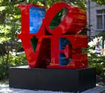 Image of the LOVE statue
