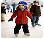 Child skating on a field trip