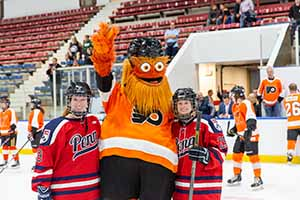 Gritty with two Penn Hockey players