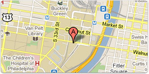 Small image of Philadelphia City Map showing the Ice Rink location