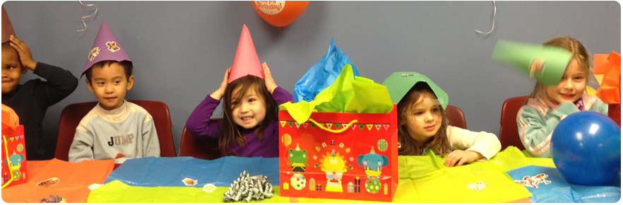 Banner image - photo of kids at a birthday party
