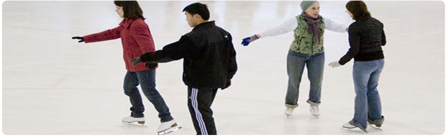 Banner image - photo of people learning how to skate