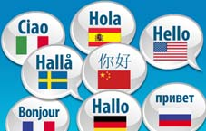 clip art of the word hello in lots of languages