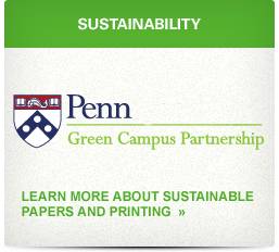 Sustainability graphic: Learn more about sustainable papers and printing