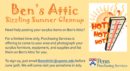 Ben's Attic Sizzling Summer Cleanup