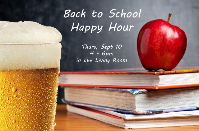 Back to School Happy Hour